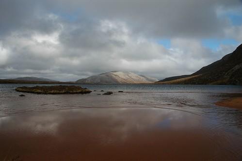 Glas Bheinn across and Loch Bealach Cornaidh