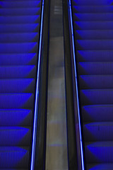 escalator to heaven (scotteek) Tags: blue escalator canonef50mm18ii 3wc photofaceoffwinner pfogold