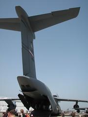 Heckansicht: Lockheed C-5 Galaxy