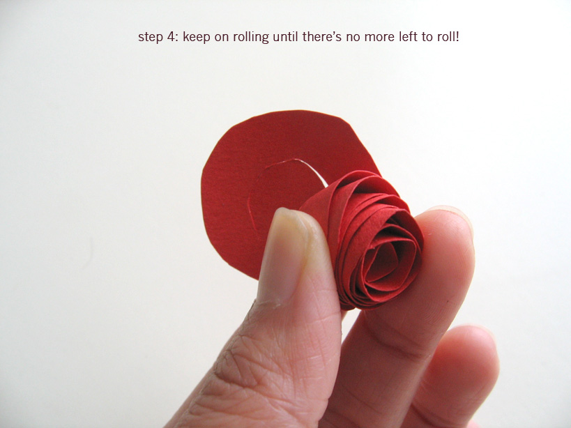 Paper flower tutorial: step 4