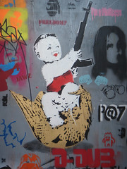 Banksy's Cans Festival, London (zoer) Tags: uk london wall painting graffiti banksy tunnel zoer leakestreet cansfestival robingunningham