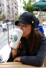Sip (Seanaboots) Tags: brown hot cute sexy coffee argentina girl beautiful hair grande eyes pretty tea sweet buenos aires delicious mmm starbucks soy fav latte brilliant chai