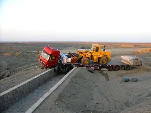 Accident on National Highway 312 between Shanshan and Sandaolin, Xinjiang, China