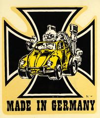 vw made in germany (ARTofCOOP) Tags: vw roth volkswagen hotrod decal safe 1000 ratfink 1000views edbigdaddyroth 1000viewsormore waterslidedecal