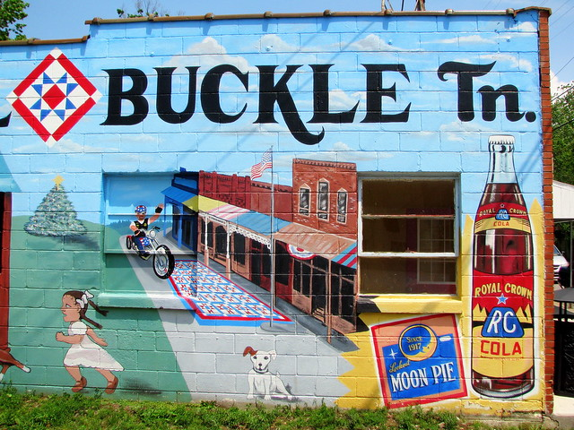 Bell Buckle Mural - right half