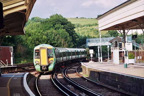 Lewes station with Electrostar train