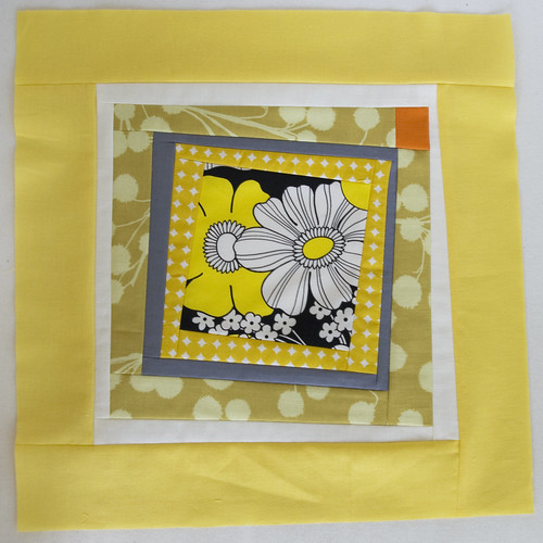Yellow Squares Quilt Block 3