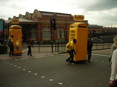 Mobile Phones? (tim ellis) Tags: uk yellow birmingham telephone mobilephone phonebox moorstreet