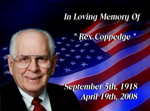 In memory of Lion PDG Rex Coppedge