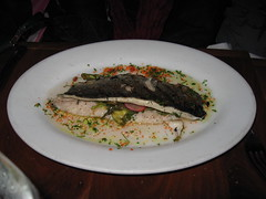 August: Grilled trout with roe vinaigrette
