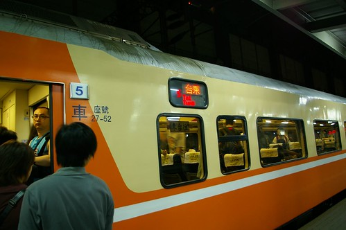 台北往台東晚班火車