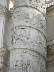 Intricate column outside Karlskirche Vienna