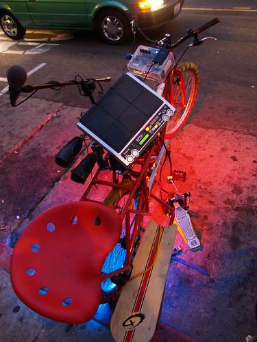 Joel Elrod's LiveOnBike drum rig