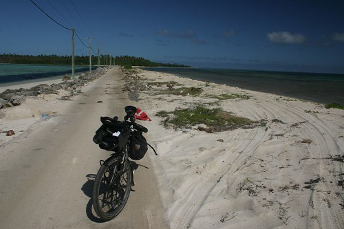 Causeway between Lifuka and Foa Islands, Ha'apai, Tonga.