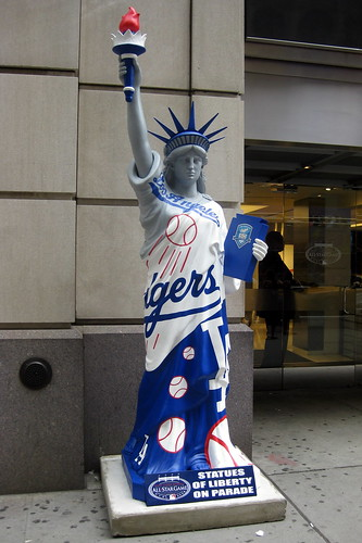 Los Angeles Dodgers. view large. NYC: Statues on