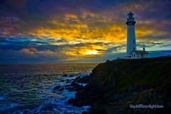 Pigeon Point Lighthouse at Sunset -  A California Lighthouse (Darvin Atkeson) Tags: ocean california desktop sea wallpaper usa lighthouse color beach nature america photoshop point landscape photography us saturated nikon lighthouses pacific artistic pigeon sunsets elite d200  enhanced californian    darvin  californialighthouse supershot outdoorphotography californialighthouses  atkeson californiaphotography outdoorphotographer anawesomeshot interpertation  darv californiaphotographer elitephotography   liquidmoonlightcom liquidmoonlight guasdivinas