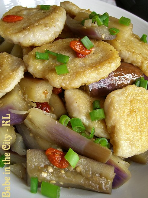 Stir-fried Eggplants with Minced Fish