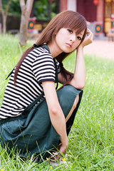 (swanky) Tags: portrait people woman cute girl beauty canon asian eos model asia pretty taiwan 85mm babe taipei   2008 taiwanese 30d    mikako   canonef85mmf18usm difocus  mikako1984