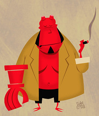 big red (robolove3000) Tags: art illustration movie comic hellboy