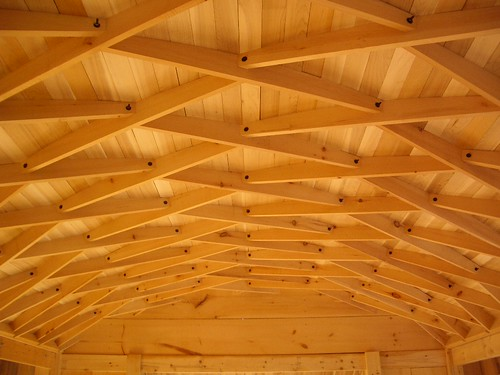 1930 Archaic Roof System Timber Lattice Barrel Type Roof