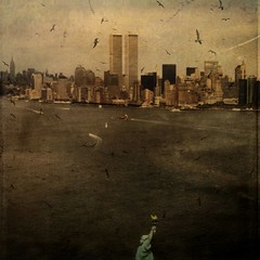 Twin Towers (Jo ~) Tags: newyork square manhattan worldtradecenter textures twintowers wtc frizztext hourofthesoul
