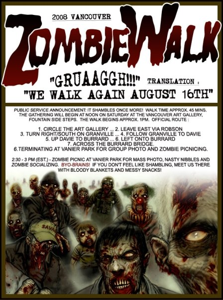 vancouver zombiewalk flyer