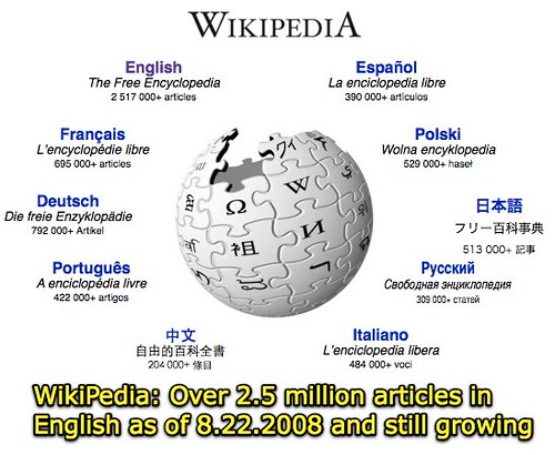 Wikipedia - over 2.5 million articles