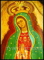la morenita update (Estaba El Senhor InigoDeloyola) Tags: art painting stars mexico reina catholic folk mary icon virgin crown christianity guadalupe retablo goldstaraward