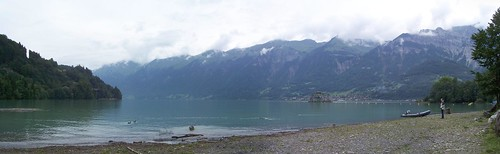 Panoramic photo of the Brienzersee at Brienz