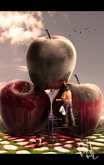 the painter (rob.Forte) Tags: apple photomanipulation pie contest painter wacom worth1000 advanced skill photoshopitalyrobertoforte