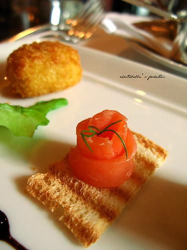 西華飯店Harrod's午茶之燻鮭魚