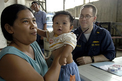 Routine Health check (US Navy) Tags: child military philippines navy mother cebu naval job usnavy careers career medcap projectfriendship