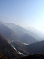 Water color (matamai) Tags: blue india mist mountains river gradient himalayas ganges naturesfinest uttranchal bej abigfave platinumphoto anawesomeshot naturewatching panoramafotografico