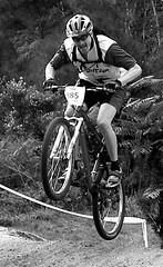moutain biking (B.R.Hintz Photography) Tags: newzealand bw black water action taupo photofaceoffwinner pfogold brhintzphotography barryhintz