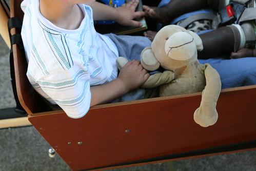 monkey rides, too.