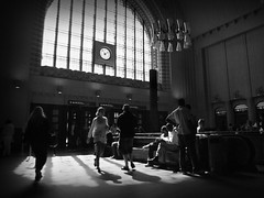 helsinki station (Mik Thorvaldsen) Tags: street light blackandwhite bw contrast strada shadows ombra bn luce biancoenero contrasto bnvitadistrada bncitt mikel1983 micheletorsello acinematicworld
