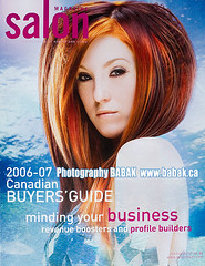 Salon Magazine (BABAK photography) Tags: wild color water beauty magazine hair photographer cover salon babak fashionshoot contessa krazzy hairshoot avantgardehair 2006hairstyles