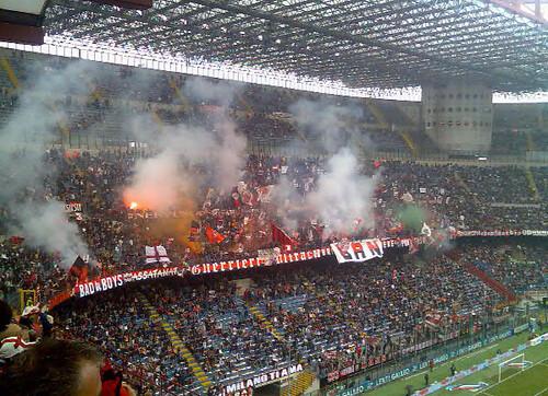 stadium on fire