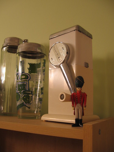 Tiny soldier guards the Ice-o-Matic
