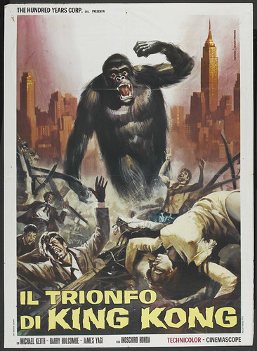KING KONG ESCAPES Italian one sheet 1967