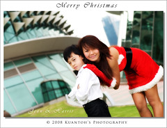 Santarina Jean & Harris #4 (kuantoh) Tags: lighting christmas xmas snow cute sexy photoshop portraits asian model nikon singapore pretty slim jean chinese young handsome babe tm esplanade theme harris poses suave slender cls santarina d300 strobes sb800 mesmerizing outdoorlighting flashguns creativelightingsystem sb900 camelproduction