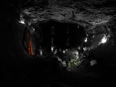 wellies and suit - HRC (TomHughesTom) Tags: underground hrc caves cave caving hardrockcafe selectivecolour potholing lupc cilau darencilau