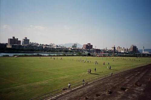 你拍攝的 百齡足球場。