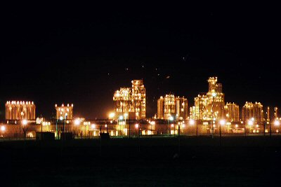 Santas Christmas Village?  Or a Kuwaiti oil refinery?