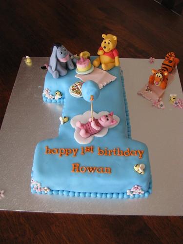 Winnie The Pooh Friends 1st Birthday Cake