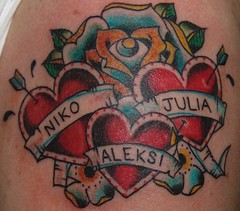 cropped heart with names