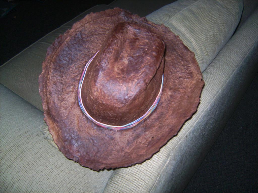 handmade paper western hat