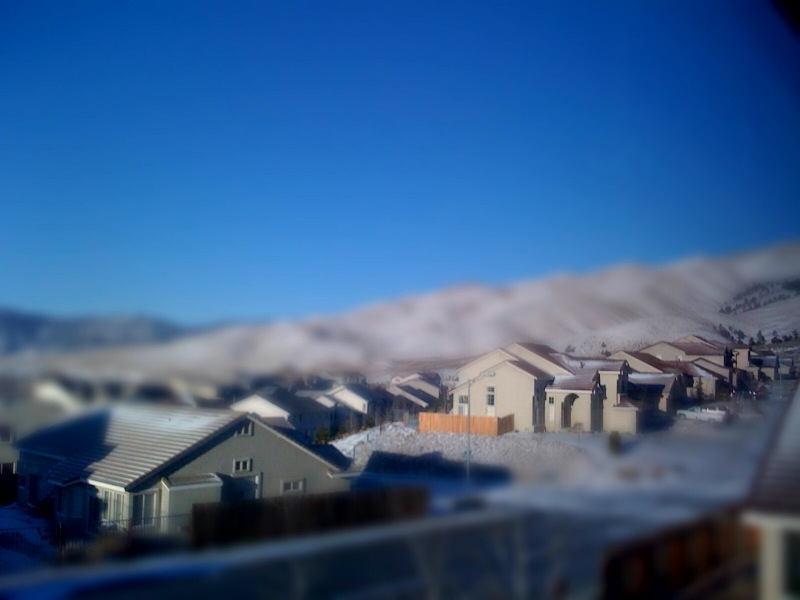 Testing tilt/shift app for iPhone