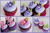 Tinkerbell Birthday Mini Cupcakes (Klaire with a Cake) Tags: pink cake butterfly cupcakes purple little violet mini lime tlc primrose the cupcakery xirj klairescupcakes
