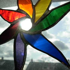 Rainbow starflower suncatcher